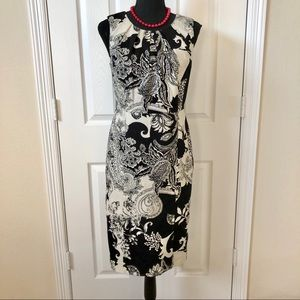 Talbots Black & White Floral Dress